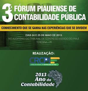 CRC-PI promove 3º Fórum Piauiense de Contabilidade Pública
