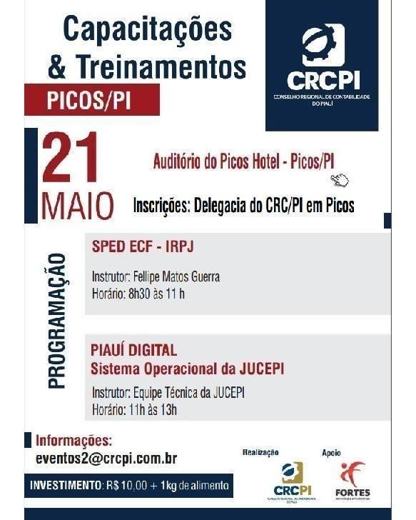 Jucepi e CRC-PI realizam treinamento para contadores de Picos