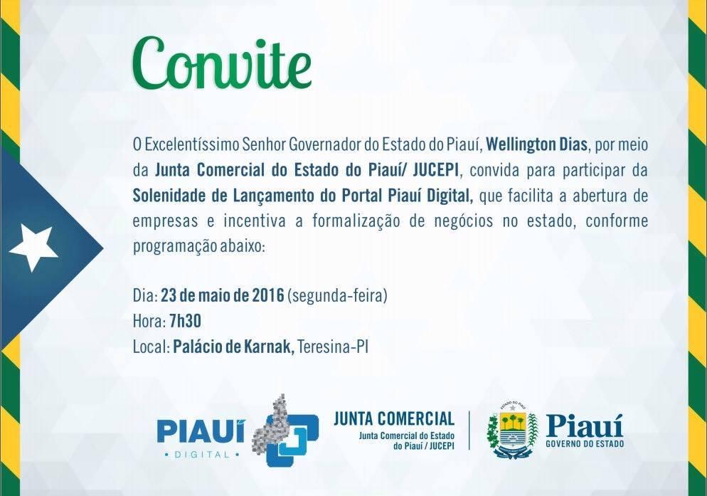 Piauí Digital será lançado no dia 23 em solenidade no palácio de Karnak
