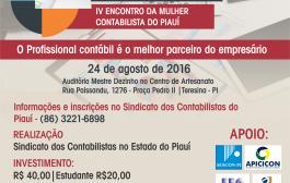 Abertas as inscrições para o VI Fórum de Contabilidade do Piauí e o IV Encontro da Mulher Contabilista do Piauí