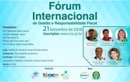 Fórum Internacional de Gestão e Responsabilidade Fiscal acontece dia 21 em Teresina