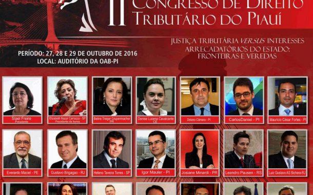 CRC- PI apoia o II Congresso de Direito Tributário do Piauí