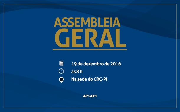 Associação de Peritos Contadores do Piauí convoca categoria para assembleia geral