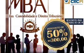 Contadores registrados no CRC-PI terão 50% de desconto em MBA em Contabilidade e Direito Tributário em Teresina