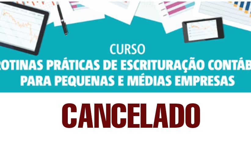 Cancelado curso sobre escrituração contábil para pequenas e médias empresas