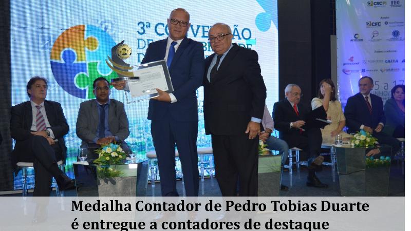 Medalha Contador de Pedro Tobias Duarte é entregue a contadores de destaque