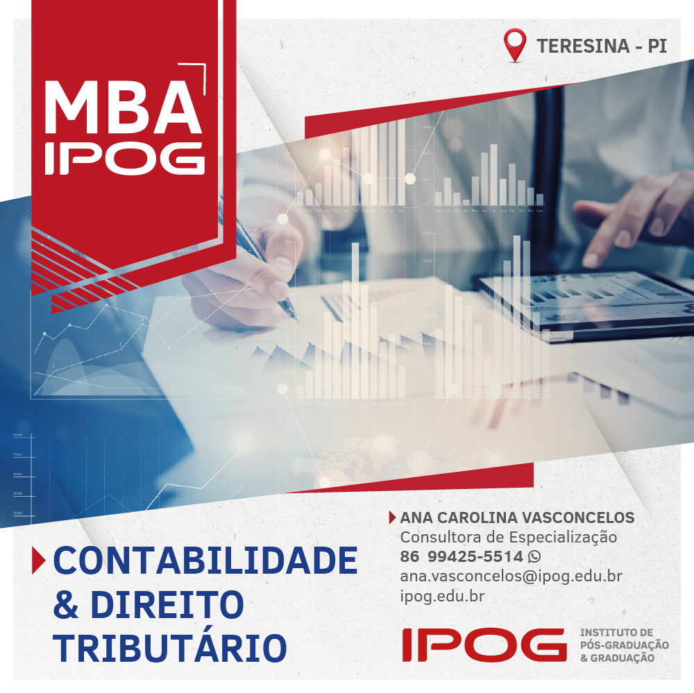 IPOG abre nova turma para MBA em Contabilidade e Direito Tributário
