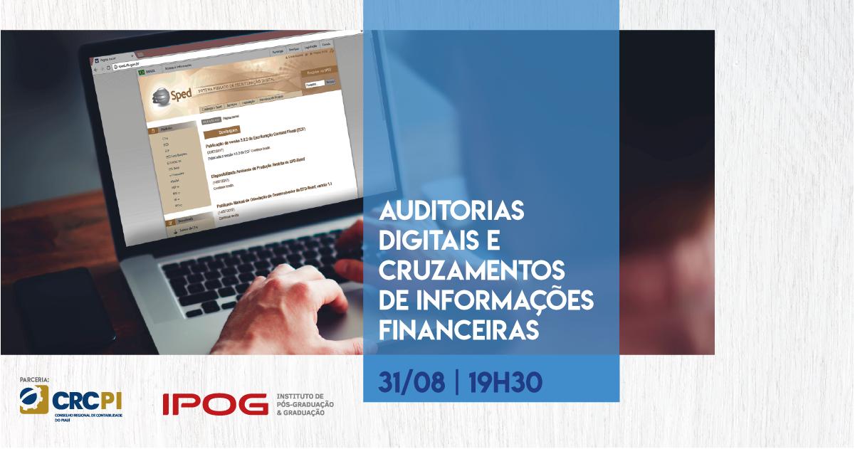 """Palestra sobre """"Auditorias Digitais e Cruzamentos de Informações Financeiras está com inscrições abertas"""