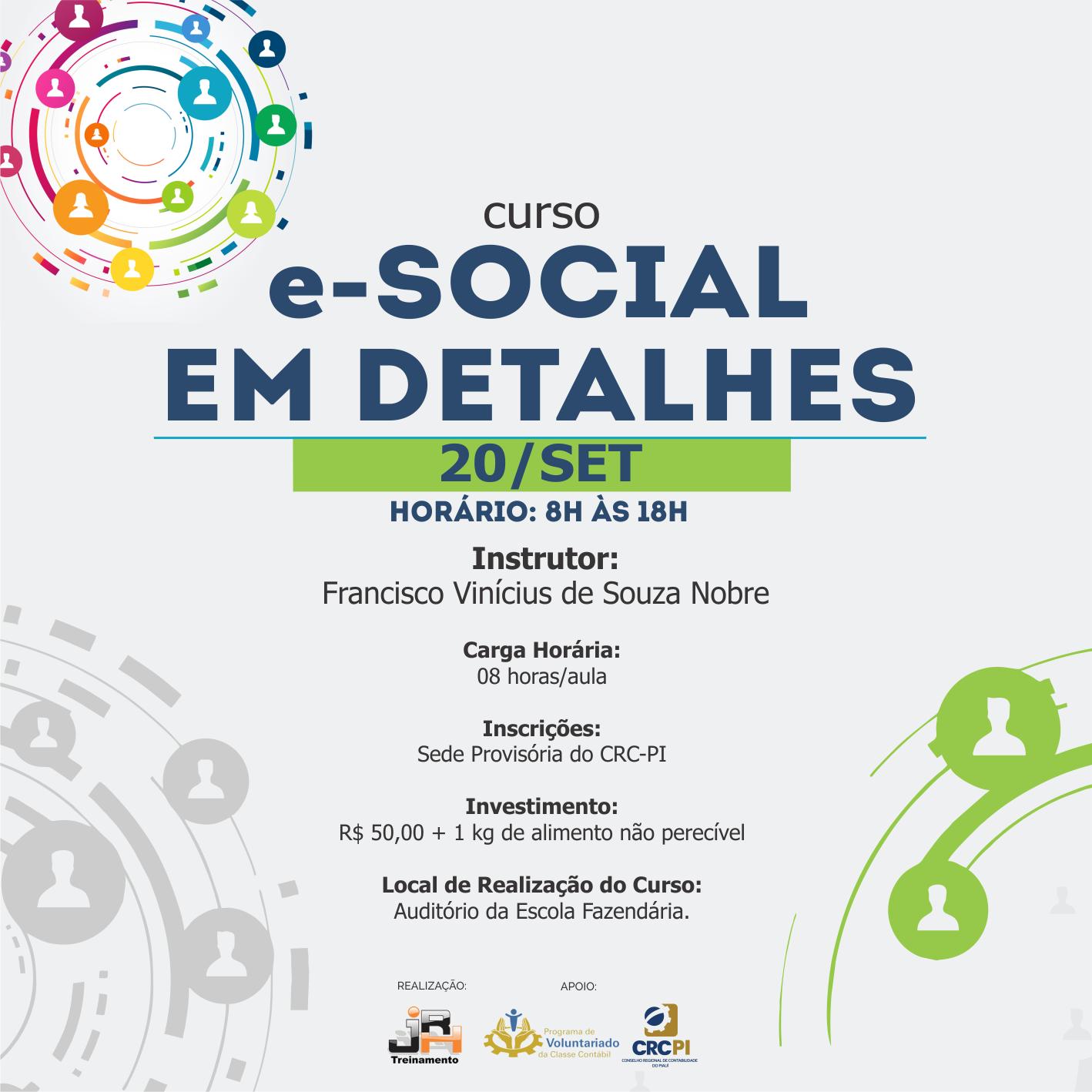 """Inscrições abertas para o curso """"e-Social em Detalhes"""""""