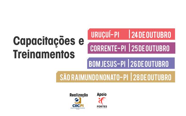 CRC-PI está com inscrições abertas para capacitações em Uruçuí, Corrente, Bom Jesus e São Raimundo Nonato