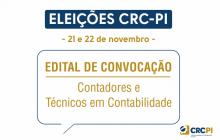 Comissão Eleitoral do CRC-PI convoca profissionais contábeis para eleições nos dias 21 e 22 de novembro