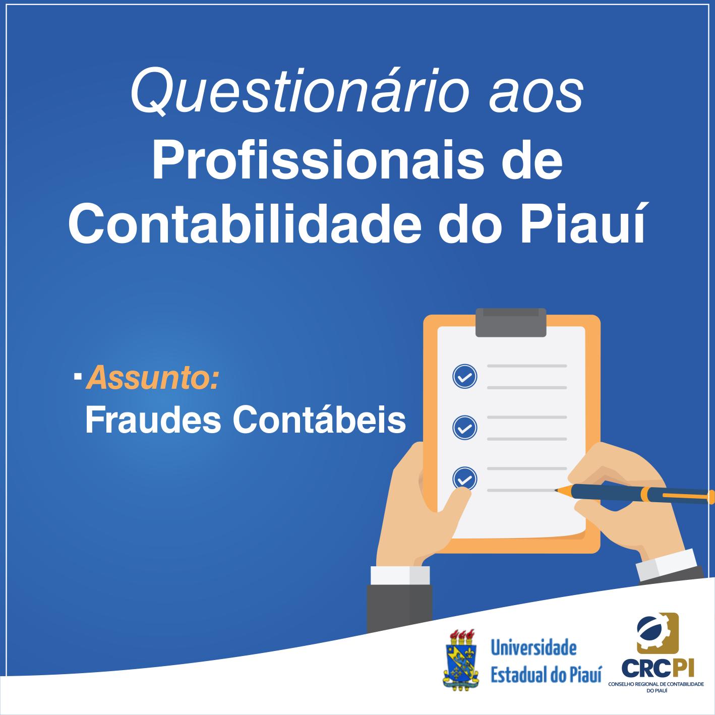 Participe da pesquisa sobre fraudes contábeis