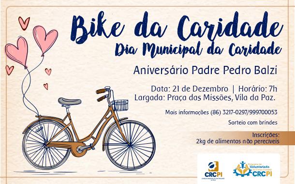 """CRCPI convida profissionais da Contabilidade para ação solidária """"Bike da Caridade"""""""