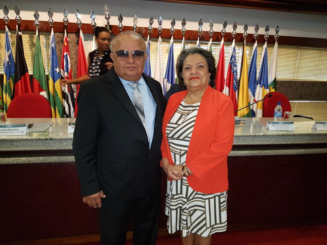 Josafam Bonfim com a presidente do CRC/RJ,  a piauiense  Vitória Maria.