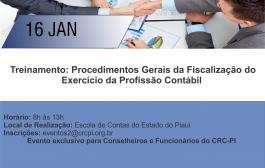 Conselheiros e funcionários serão capacitados sobre procedimentos de fiscalização