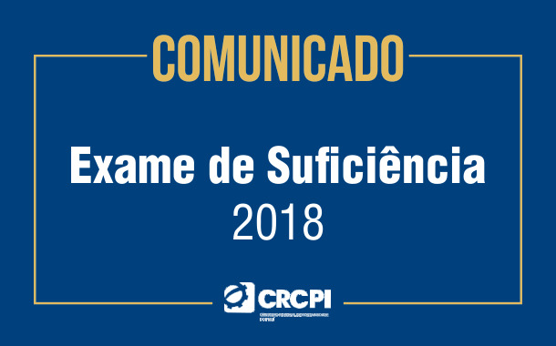 COMUNICADO - Exame de Suficiência 2018