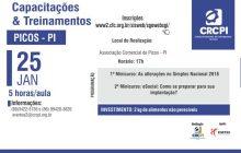 CRC-PI realiza cursos sobre Simples Nacional e eSocial em Picos