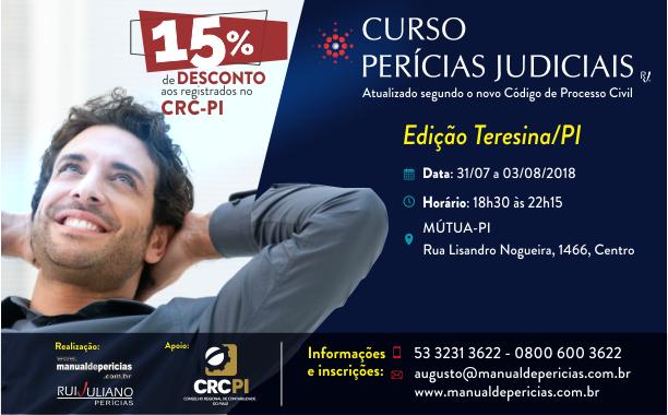 O CRC-PI é parceiro da Rui Juliano – Perícias e os profissionais registrados e regulares com o conselho recebem 15% de desconto