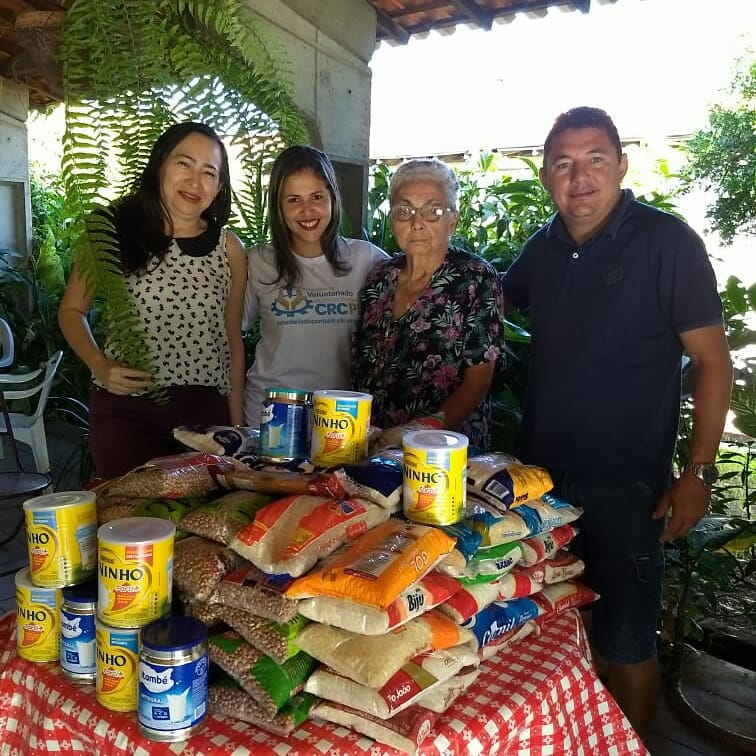 CRCPI entrega 100 kg de alimentos ao Lar da Esperança