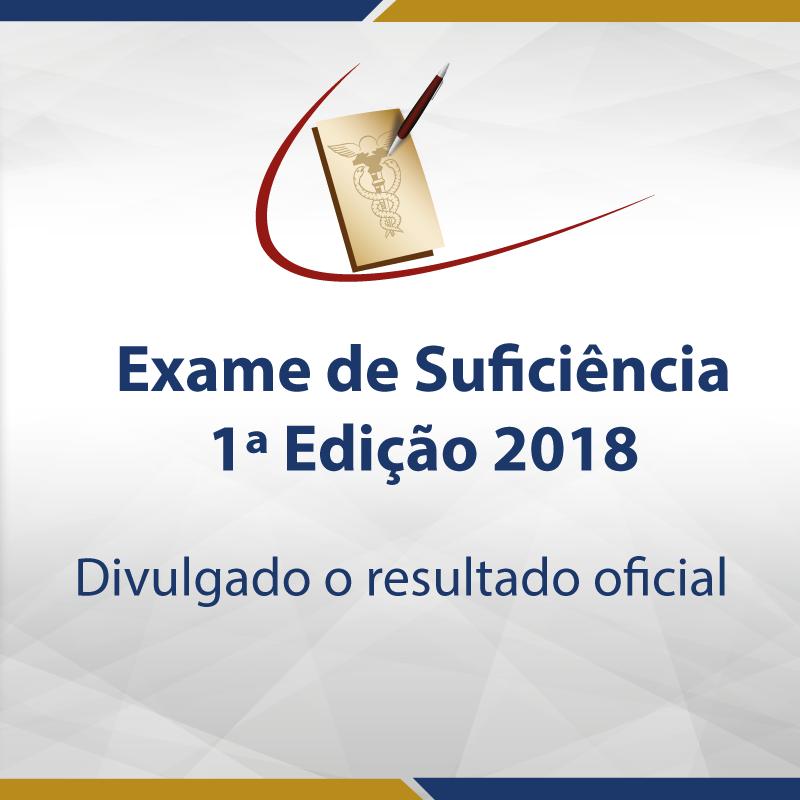 Divulgado o resultado do primeiro Exame de Suficiência de 2018
