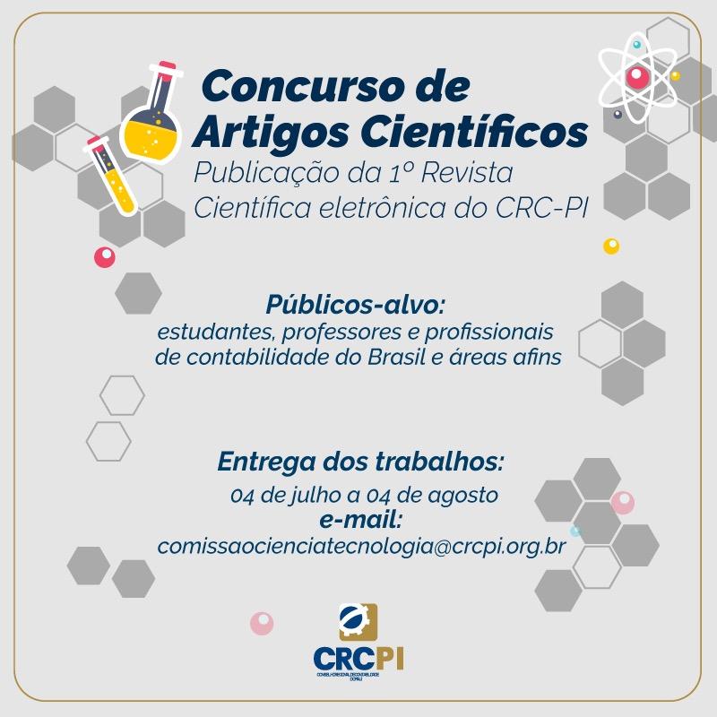 CRC-PI promove concurso de artigos científicos para lançamento da primeira revista científica eletrônica