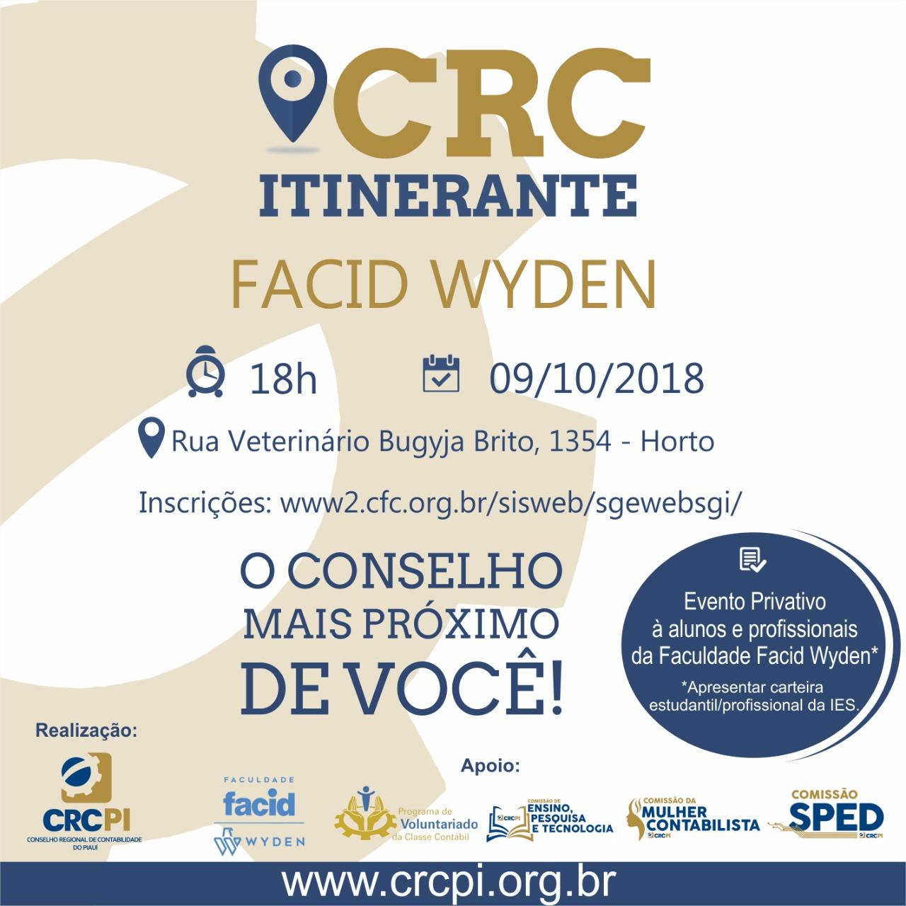 CRC Itinerante realiza atividades para estudantes da Facid Wyden