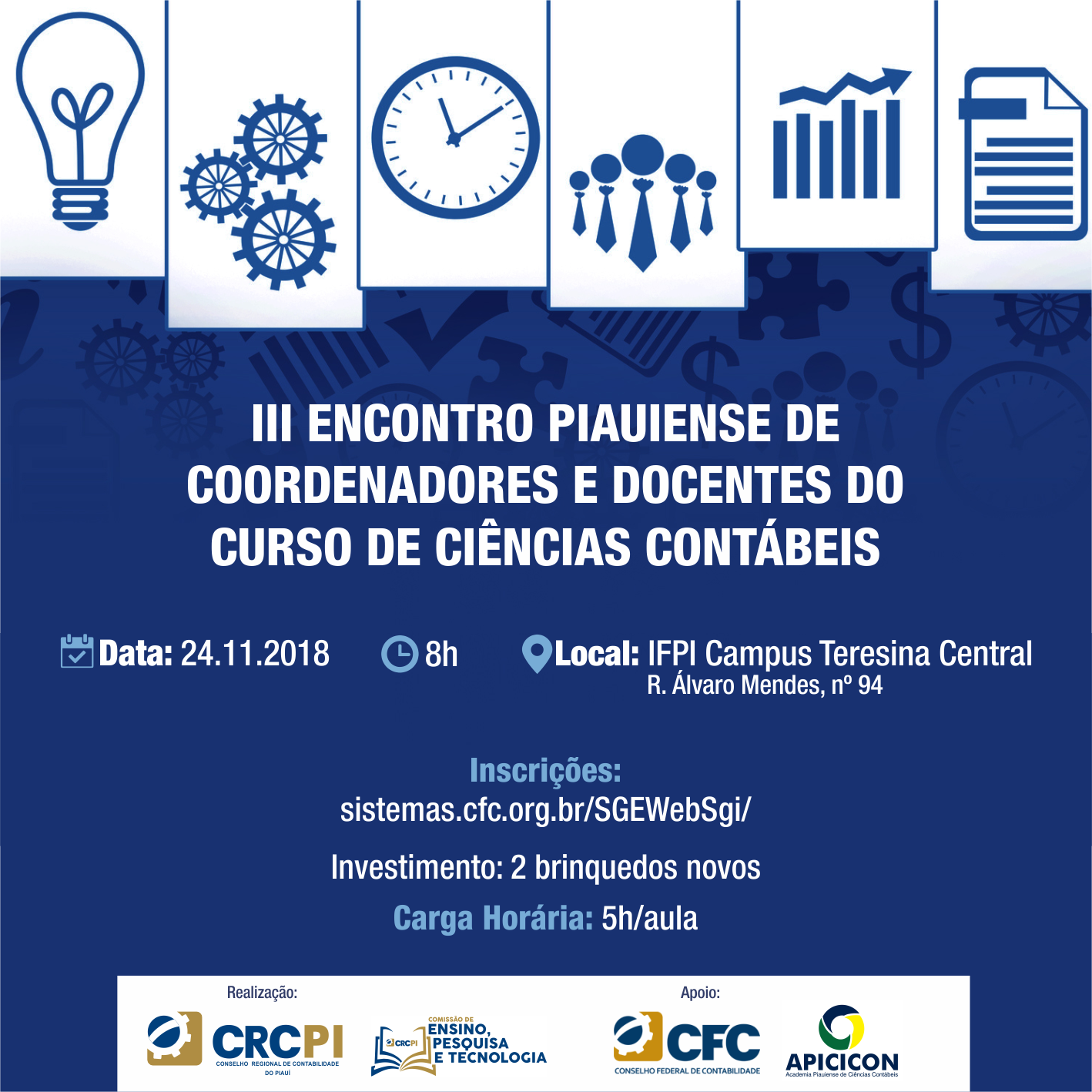 CRC-PI promove o III Encontro Piauiense de Coordenadores e Docentes do Curso de Ciências Contábeis do Piauí