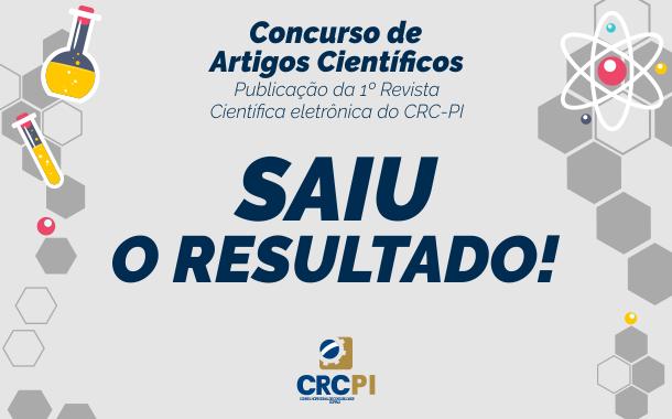 CRC-PI DIVULGA RESULTADO DO CONCURSO DE ARTIGOS CIENTÍFICOS