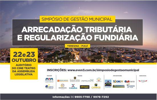 CRC participa de simpósio sobre arrecadação tributária e regularização fundiária em Teresina