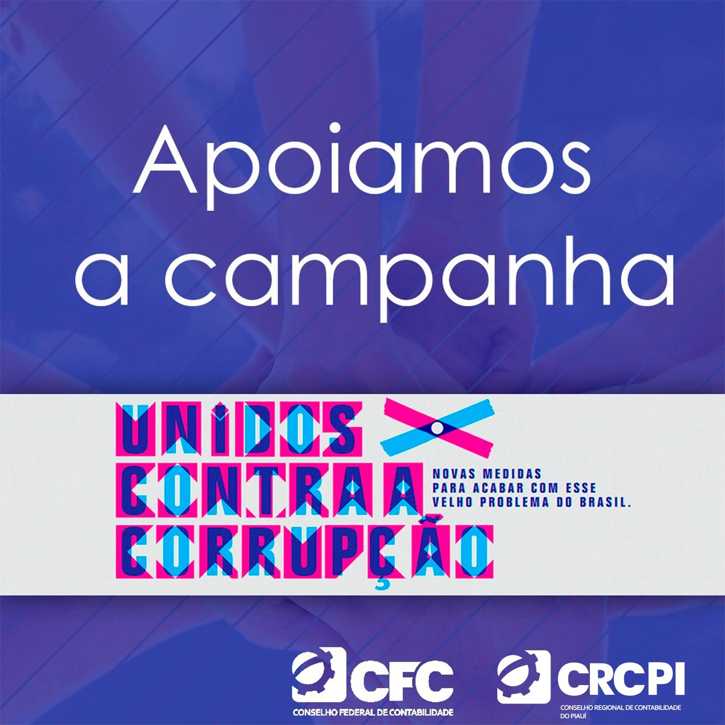 CRC-PI apoia a campanha Unidos Contra a Corrupção