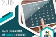 Profissionais Contábeis podem emitir boleto da anuidade 2019 e pagar com desconto até 31 de janeiro