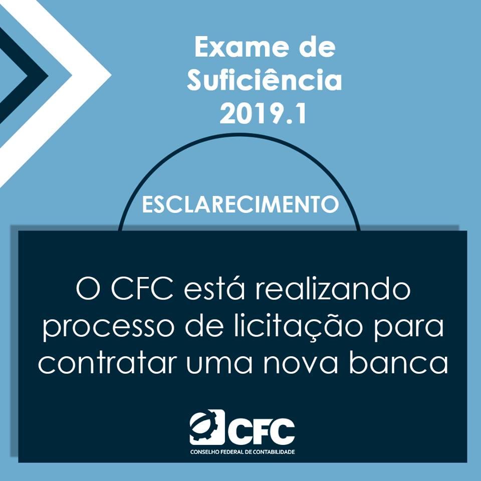 exame de suficiência 2019 cfc realiza processo de licitação para aexame de suficiência 2019 cfc realiza processo de licitação para a contratação de banca examinadora