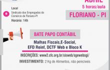 Inscrições abertas para bate-papo contábil em Floriano