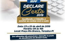 CRC-PI orienta população sobre declaração do imposto de renda a partir desta terça (23)