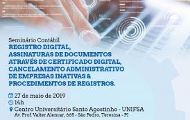 Teresina recebe Seminário Contábil sobre sistema de registro digital na próxima segunda (27)