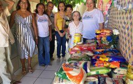 Ação beneficente doa alimentos a abrigo de idosos em Teresina