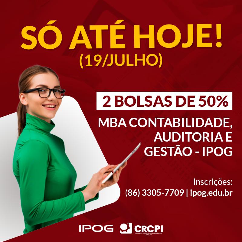 Só até hoje: parceria dá bolsas de 50% em MBA no IPOG