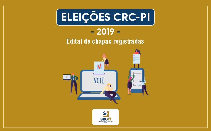 CRC-PI divulga chapas que irão disputar eleições
