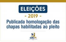 Confira a relaçãodas chapas habilitadaspara concorrer à eleição do CRC-PI