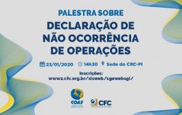Palestra irá discutir Declaração de Não Ocorrência de Operação