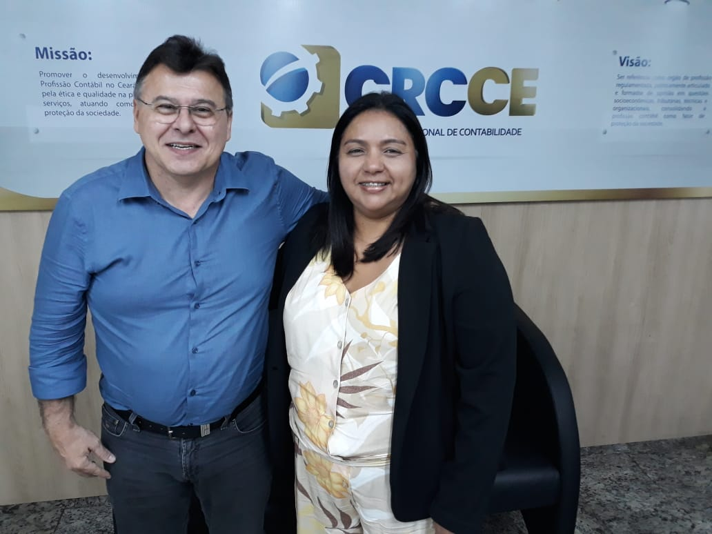 Presidente do CRC-CE recebe visita da primeira mulher eleita para presidir o CRC-PI