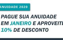 Anuidade 2020: profissionais e organizações contábeis têm desconto de 10% até 31 de janeiro